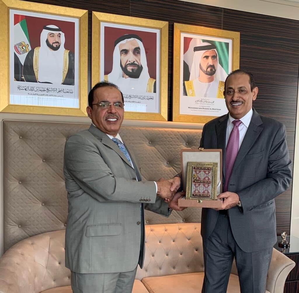 سفير الامارات وسفير السعودية في سفارة الامارات في تبليسي