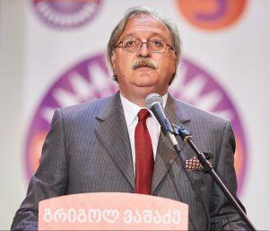 جريجول فاشدزه زعيم المعارضة رئيس حزب الحركة الوطنية
