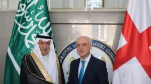 وزيرا الخارجية الجورجي والسعودي